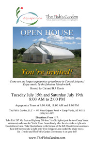 Open House Invite Singular